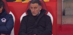 Christophe Galtier durant le match Lille-Ajax